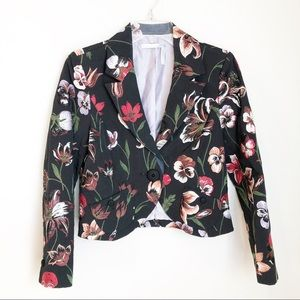 Classique Entier Embroidered Floral Cropped Blazer